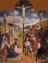 Хуго  ван дер Гус. Calvary Triptych (Central panel)