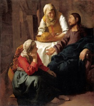 Ян  Вермеер. Christ in the House of Martha and Mary