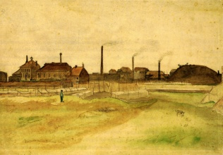 Винсент  ван Гог. Coalmine in the Borinage