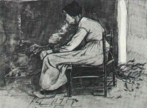 Винсент  ван Гог. Woman Sitting at the Fireside