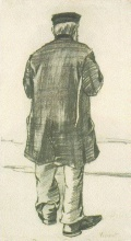 Винсент  ван Гог. Orphan Man with Cap, Seen from the Back