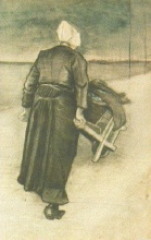 Винсент  ван Гог. Scheveningen Woman with Wheeelbarrow