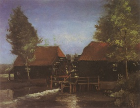 Винсент  ван Гог. Watermill in Kollen, near Nuenen