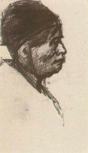 Винсент  ван Гог. Head of a Man with Cap