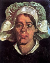 Винсент  ван Гог. Head of a Peasant Woman with White Cap