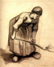 Винсент  ван Гог. Peasant Woman Digging