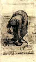 Винсент  ван Гог. Peasant Woman Lifting Potatoes