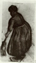 Винсент  ван Гог. Peasant Woman with Broom