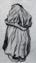 Винсент  ван Гог. Peasant Woman with Shawl over her Head, Seen from the Back