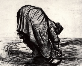 Винсент  ван Гог. Peasant Woman, Stooping, Seen from the Back