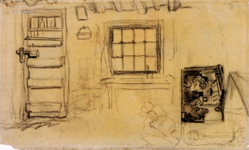 Винсент  ван Гог. Studies of the Interior of a Cottage, and a Sketch of The Potato Eaters