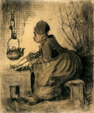 Винсент  ван Гог. Woman by a Hearth