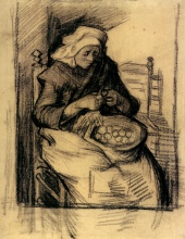 Винсент  ван Гог. Woman Peeling Potatoes