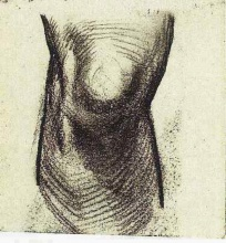 Винсент  ван Гог. Sketch of a Knee