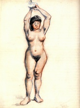 Винсент  ван Гог. Standing Female Nude Seen from the Front