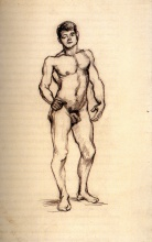 Винсент  ван Гог. Standing Male Nude Seen from the Front