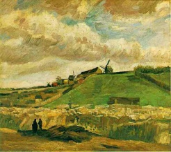 Винсент  ван Гог. The Hill of Montmartre with Quarry