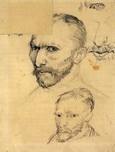 Винсент  ван Гог. Two Self-Portraits and Several Details