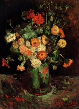Винсент  ван Гог. Vase with Zinnias and Geraniums