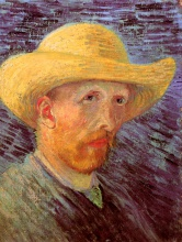 Винсент  ван Гог. Self-Portrait with Straw Hat