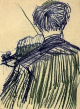 Винсент  ван Гог. Violinist Seen from the Back