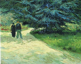 Винсент  ван Гог. Public Garden with Couple and Blue Fir Tree (The Poet s Garden III)
