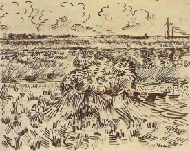 Винсент  ван Гог. Wheat Field with Sheaves