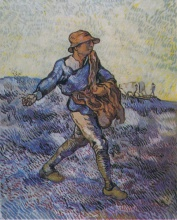 Винсент  ван Гог. The Sower (after Millet)