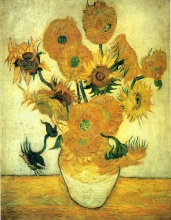 Винсент  ван Гог. Still Life - Vase with Fourteen Sunflowers