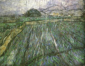 Винсент  ван Гог. Wheat Field in Rain
