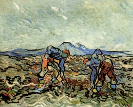 Винсент  ван Гог. Peasants Lifting Potatoes
