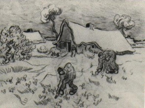 Винсент  ван Гог. Sketch of Diggers and Other Figures