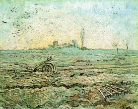 Винсент  ван Гог. The Plough and the Harrow (after Millet)