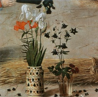 Хуго  ван дер Гус  Flower (detail from the central panel of the Portinari Altarpiece)