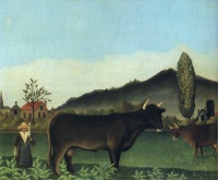 Анри  Руссо  (Landscape with cow)