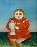 Анри  Руссо  The girl with a doll
