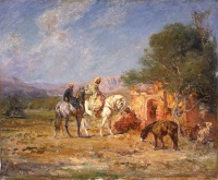 Анри  Руссо  Arab horsemen near the mausoleum