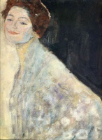 Густав  Климт  Portrait of a Lady in White (unfinished)