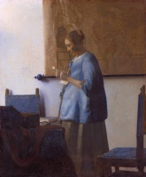 Ян  Вермеер  Woman reading a letter (Woman in Blue Reading a Letter)
