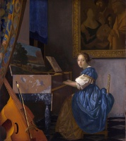 Ян  Вермеер  A young woman seated at a virginal (A Lady Seated at a Virginal)