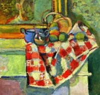 Анри  Матисс  Still Life with a Checked Tablecloth