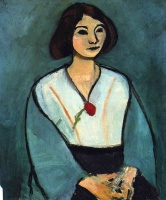 Анри  Матисс  Woman in Green with a Carnation