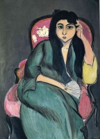 Анри  Матисс  Laurette in Green in a Pink Chair