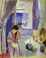 Анри  Матисс  Woman Reading at a Dressing Table (Interieur, Nice)
