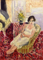 Анри  Матисс  Seated Figure, Striped Carpet
