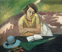 Анри  Матисс  Reading Woman with Parasol