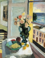 Анри  Матисс  Flowers in front of a Window