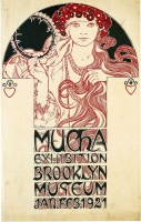Альфонс   Муха  Poster for the Brooklyn Exhibition