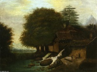 Поль  Сезан  Landscape with Mill
