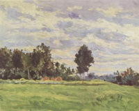 Поль  Сезан  Landscape in the Ile de France